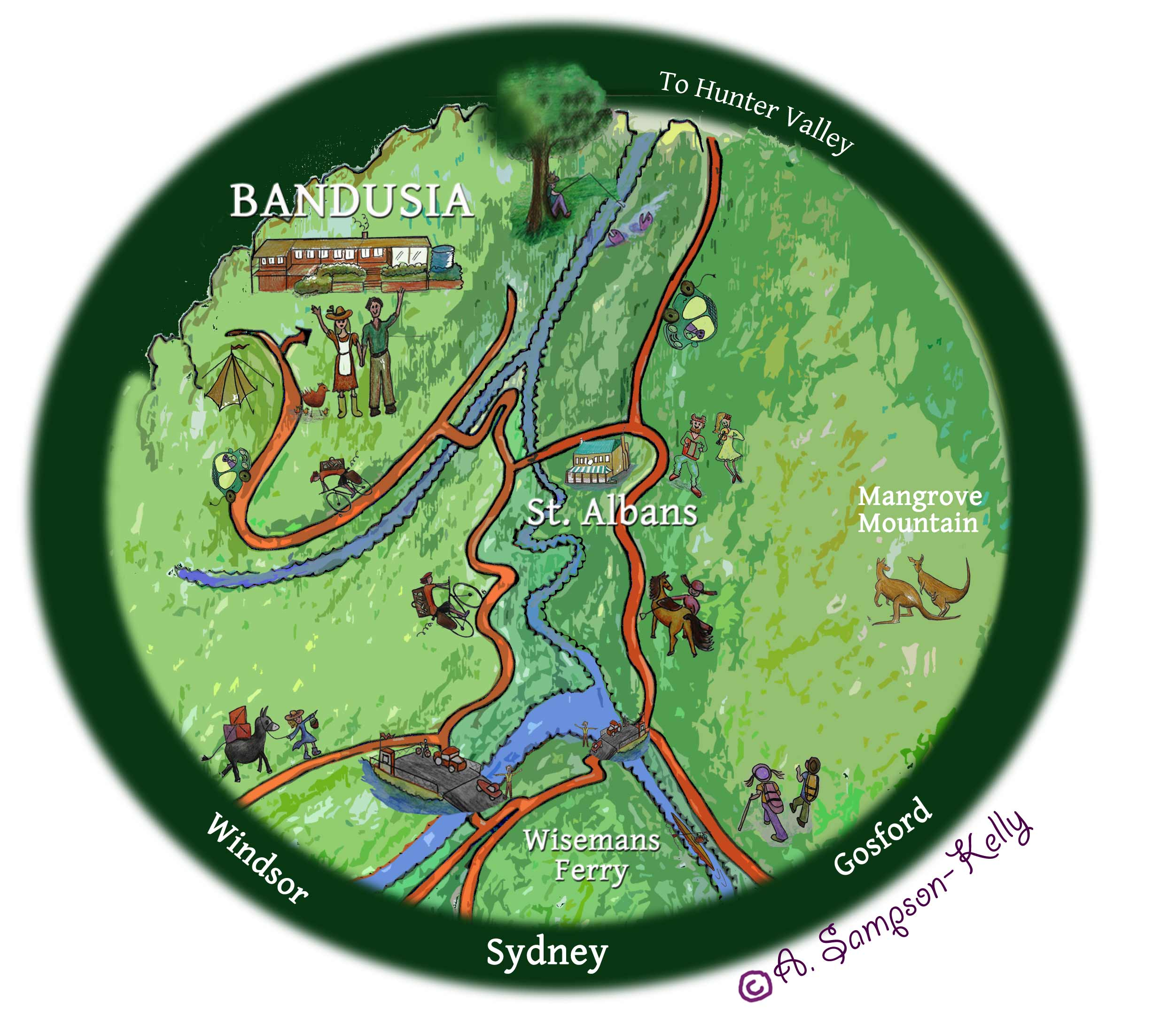 Bandusia - how to get there